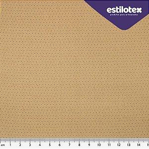 TECIDO 100% ALGODÃO ESTILOTEX -MICRO POÁ CHIQUE TONS DE BEGE- PREÇO 0,50M X 1,50M