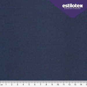 TECIDO 100% ALGODÃO ANTIVIRAL ESTILOTEX LISO AZUL MARINHO - PREÇO 0,50M X 1,48M