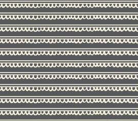 TECIDO 100% ALGODÃO FABRICART-KITTY GARDEN- RENDINHAS - PREÇO DE 0.50 x 1,50