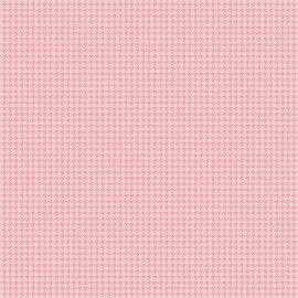 TECIDO 100% ALGODÃO FABRICART- PIED DE POULE ROSÉ - PREÇO DE 0.50 x 1,50