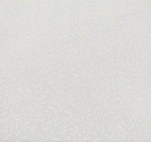 TECIDO 100% ALGODÃO EVA E EVA -COLEÇÃO  IPANEMA- ARABESQUE BRANCO PREÇO DE 0.50 x 1,50