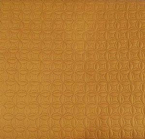 TECIDO MATELASSADO SARJA CARAMELO MINI FLOR DE LOTUS LINHA CARAMELO - PREÇO DE 0,50 x 1,50