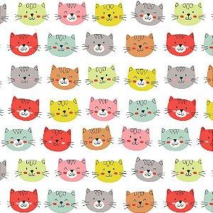 TECIDO 100% ALGODÃO FABRICART- CAT LOVERS - CAT 04 - PREÇO DE 0.50 x 1,50