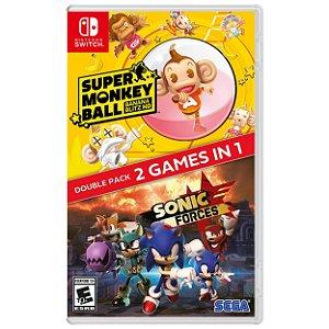 Sonic Forces + Super Monkey Ball Banana Blitz Double Pack - SWITCH - Novo [EUA]