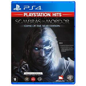 Terra Média Sombras de Mordor Game of the Year (PlayStation Hit) - PS4 - Novo