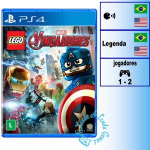 Lego Marvel Vingadores -  PS4 - Novo