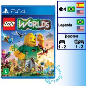 Lego Worlds - PS4 - Novo