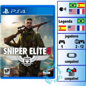 Sniper Elite 4 - PS4 - Novo