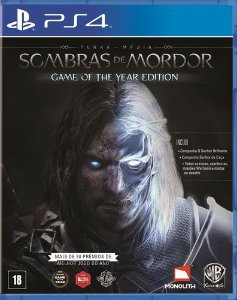Terra Média Sombras de Mordor Game of the Year - PS4 - Novo
