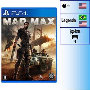 Mad Max - PS4 - Novo