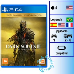 Dark Souls 3 The Fire Fades Edition - PS4 - Novo