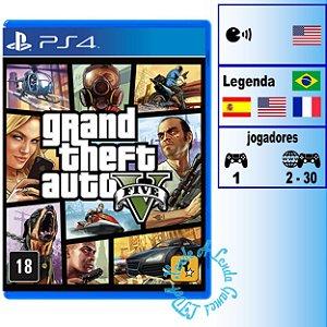 Grand Theft Auto 5 (GTA V) - PS4 - Novo