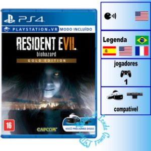 Resident Evil 7 Biohazard Gold Edition - PS4 - Novo