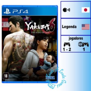 Yakuza 6: The Song of Life - PS4 - Novo