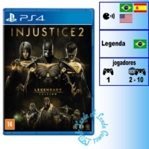 Injustice 2 Legendary Edition - PS4 - Novo