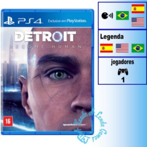 Detroit Become Human - PS4 - Novo