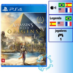Assassin's Creed Origins - PS4 - Novo