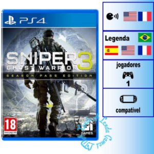 Sniper Ghost Warrior 3 Season Pass Edition - PS4 - Novo