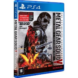 Metal Gear Solid V The Definitive Experience - PS4 - Novo