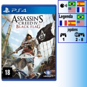 Assassin's Creed IV Black Flag - PS4 - Novo