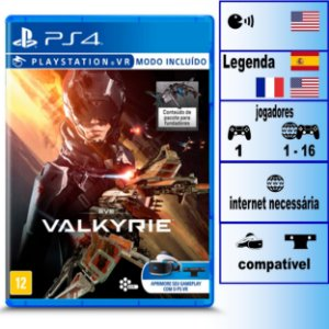 Eve Valkyrie - PS4 - Novo
