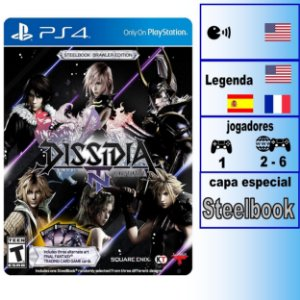 Dissidia Final Fantasy NT Steelbook Brawler Edition - PS4 - Novo