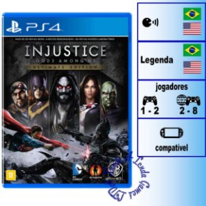 Injustice Gods Among Us Ultimate Edition - PS4 - Novo