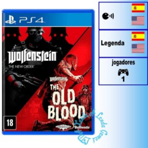 Wolfenstein The Two Pack - PS4 - Novo
