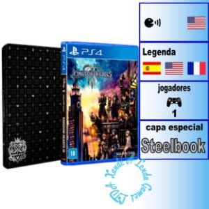 Kingdom Hearts III Steelbook Edition - PS4 - Novo