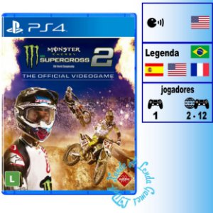 Monster Energy Supercross 2 The Official Videogame - PS4 - Novo