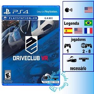 Driveclub VR - PS4 - Novo