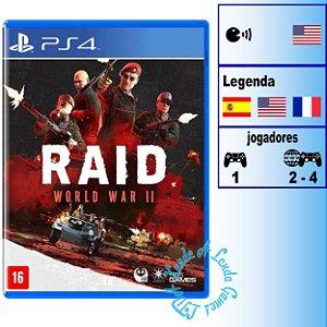 Raid World War II - PS4 - Novo