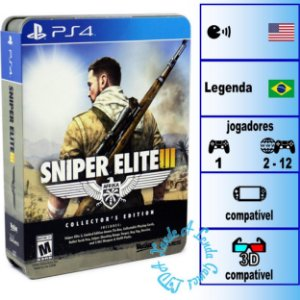 Sniper Elite 3 Collector's Edition - PS4 - Novo
