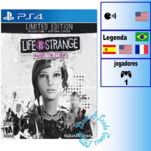 Life is Strange: Before the Storm Edição Limitada - PS4 - Novo