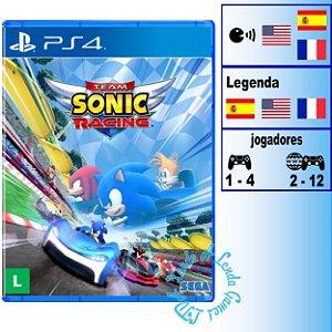 Team Sonic Racing - PS4 - Novo