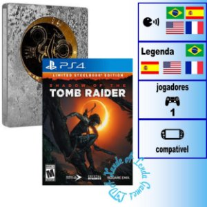 Shadow of the Tomb Raider Limited Steelbook Edition - PS4 - Novo