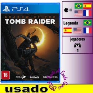 Shadow of the Tomb Raider - PS4 - Usado