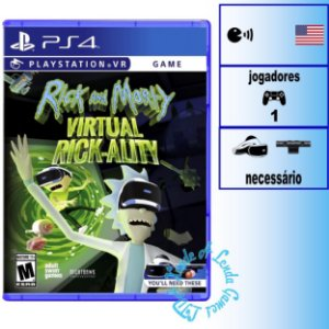 Rick and Morty Virtual Rickality - PS4VR - Novo