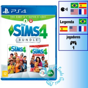 The Sims 4 + Cães e Gatos - PS4 - Novo