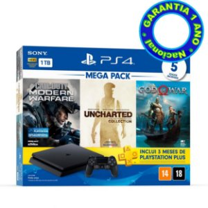 Console PlayStation 4 Slim Mega Pack 7 (Nacional) - Novo