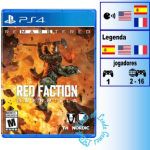 Red Faction Guerrilla Remarstered - PS4 - Novo