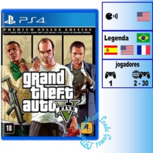GTA V Premium Online Edition - PS4 - Novo