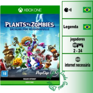 Plants vs Zombies Batalha por Neighborville - XBOX ONE - Novo