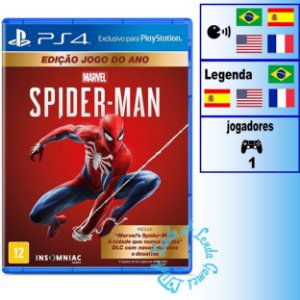 Marvel's Spider-Man Edição Jogo do Ano - PS4 - Novo