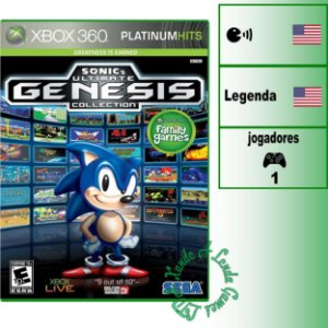 Sonic's Ultimate Genesis Collection - XBOX 360 - Novo