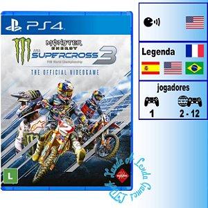 Monster Energy Supercross 3 - PS4 - Novo