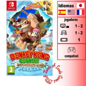 Donkey Kong Country Tropical Freeze - SWITCH - Novo