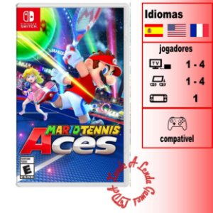 Mario Tennis Aces - SWITCH - Novo [EUA]