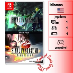 Final Fantasy VII + Final Fantasy VIII Remastered - SWITCH - Novo