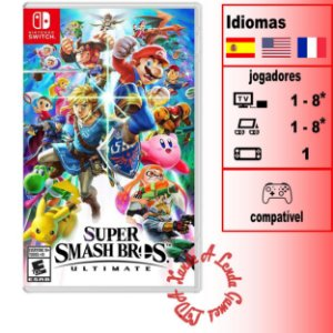 Super Smash Bros Ultimate - SWITCH - Novo [EUA]